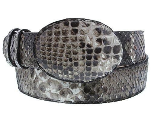 Brown Snake Genuine Belt (El Presidente - All Genuine Natural Python Snake Skin Leather Belt Rodeo Buckle)