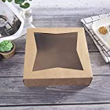 [15pcs]10inch Natural Kraft Bakery Pie Boxes with