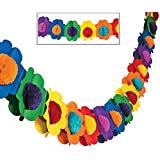Fun Express Multicolor Tissue Flower Garland Novelty