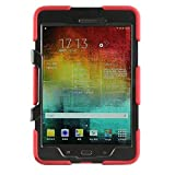 Shockproof dust-proof hard armor Heavy Duty design with Kickstand Protective Case For Samsung galaxy Tab Galaxy Tab A 8.0 [SM-T350] (Red)