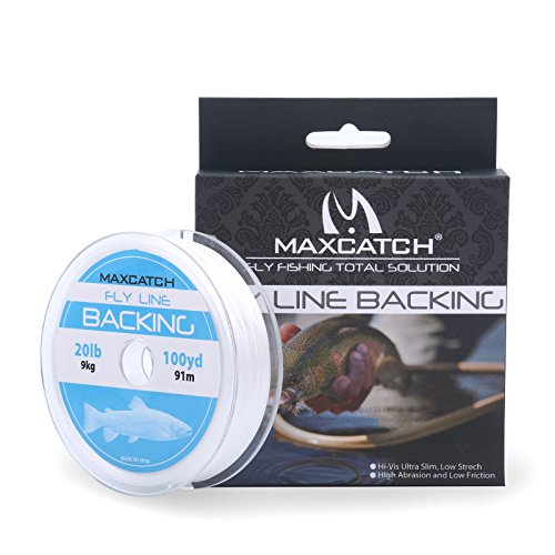 Maxcatch Fly Line Backing for Fly Fishing Braided Different Color 20/30lb 100yards (White, 20lb)