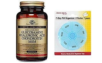 Solgar - ácido del hialurónico glucosamina condroitina MSM (libre de mariscos) tabletas cuenta 120