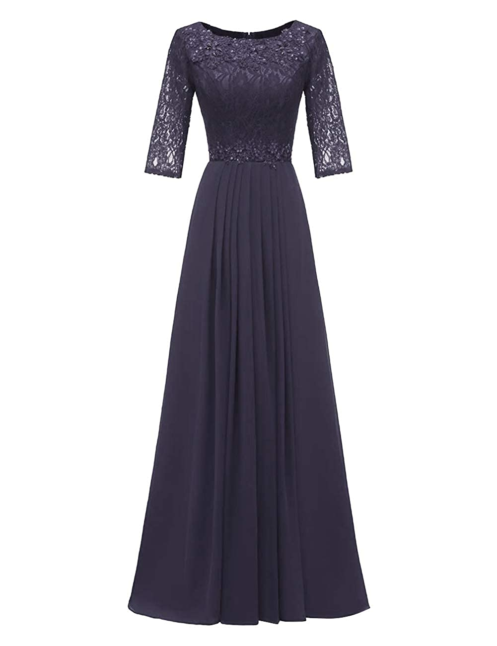 Dark Navy H.S.D Evening Dresses Long Prom Dresses Lace Bridesmaid Dresses Evening Formal Gowns