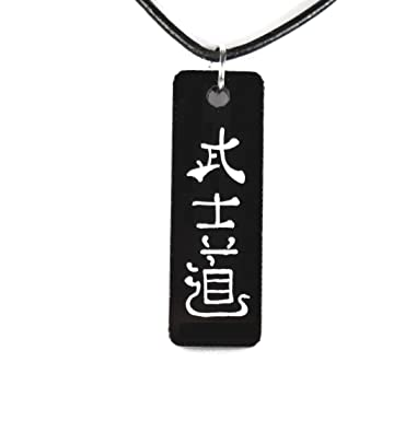 Bushido necklace 20 japanese kanji hand painted amazon bushido necklace 20quot japanese kanji hand painted aloadofball Image collections