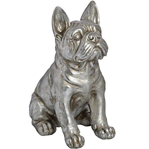 silver bulldog statue - 3