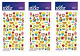 Sticko Classic Mini Food Characters Stickers (Тhree Pаck)