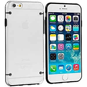 Accessory Planet(TM) Black Crystal Transparent Clear Hard Hybrid Case Cover for Apple iPhone 6 (4.7)