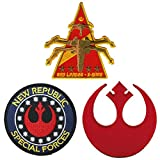 (US) J&C Family Owned Star Wars Rebel, New Republic, and X-wing Red Leader Patch Gift Sets