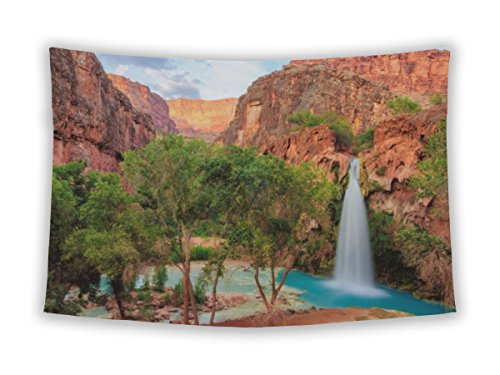 Gear New Wall Tapestry For Bedroom Hanging Art Decor College Dorm Bohemian, The Incredible Havasu Falls Grand Canyon Arizona, 104x88