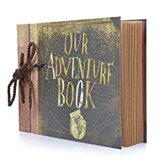 Our Adventure Book Photo Album Scrapbook: DIY Scrapbook with Pages is a fashion, classy and fun way to store your photos and memory. You can share wonderful moment with your family, friends, guests, etc. The real photos is always more attract...