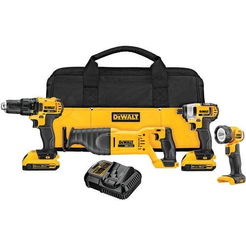 Factory-Reconditioned Dewalt DCK420D2R 20V MAX Cordless Lithium-Ion 4-Tool Combo Kit