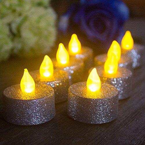 Flameless Glitter Christmas Tealight Lighting product image