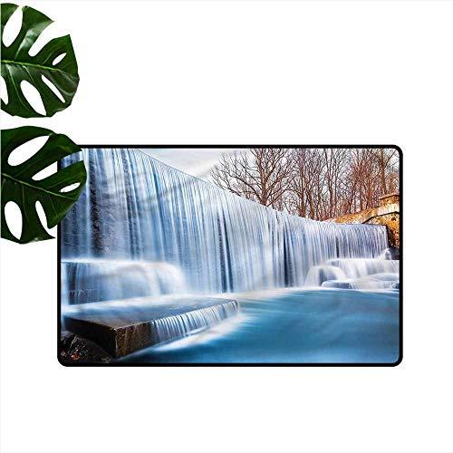 (DONEECKL Fashion Door mat Waterfall Victoria Falls Pastoral Antifouling W31 xL47)