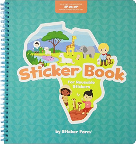 Sticker Farm Original Series Large (10 x 10.5 in) Sticker Book for Reusable Stickers - Special Edition (Book ONLY) Reusable Sticker Album with Built-in Sticker Pocket ()