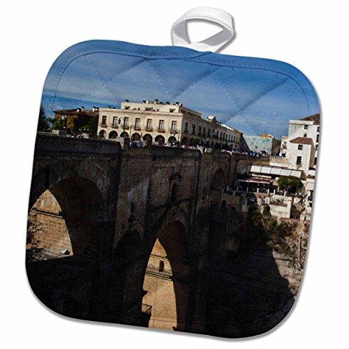 3D Rose Spain-Ronda-Town with Puente Nuevo Bridge-Eu27 Wbi0955-Walter Bibikow Pot Holder, 8 x 8'' by 3dRose