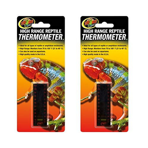 - Zoo Med 2 Pack of High Range Reptile Thermometers