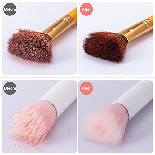how to clean makeup brushes with elf brush cleaner
