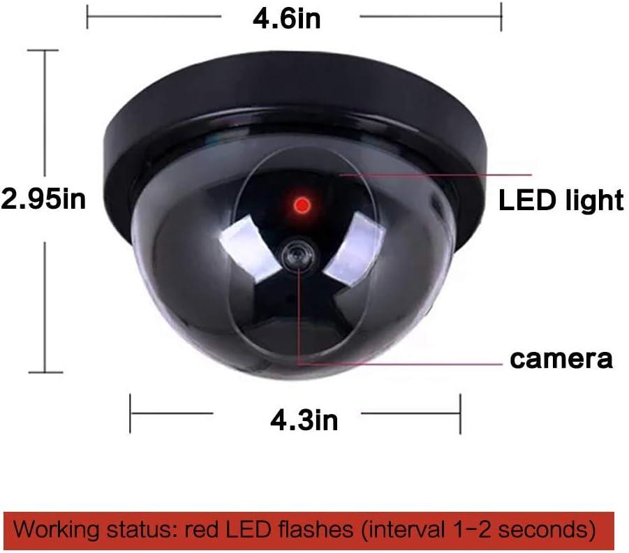 noir HERCHR Cam/éra de voiture Fausse voiture CCTV Cam/éra factice tableau de bord avec lumi/ère rouge