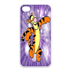 Mystic Zone Customized Tigger iPhone 4 Case for iPhone 4/4S Cover lovely Cartoon Fits Case KEK0618
