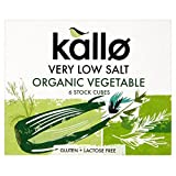 Kallo Organic Very Low Salt Vegetable Stock Cubes (6x10g) - Pack of 6