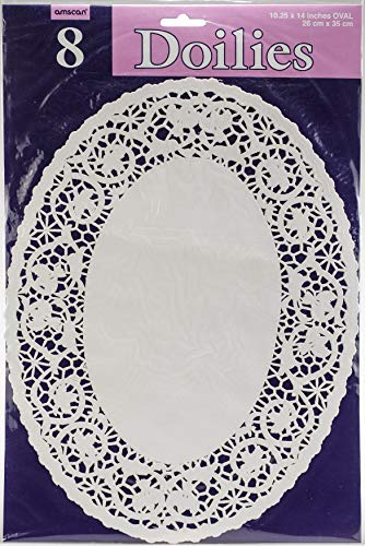 """White Oval Doilies 