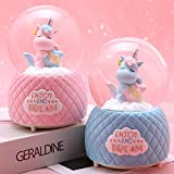 ANVEC 80MM Snow Globes for Girls,Unicorn Gifts