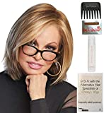 Bundle – 5 Items: Play it Straight Wig by Raquel Welch, Christy's Wigs Q & A Booklet, 2oz Travel Size Wig Shampoo, Wig Cap & Wide Tooth Comb – Color: SS1488 For Sale