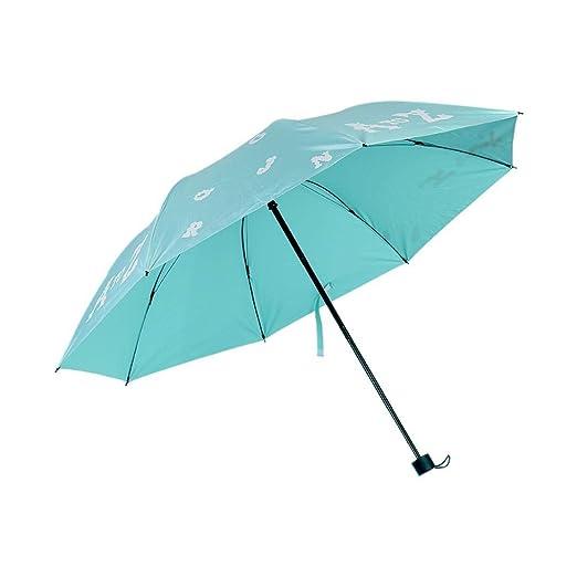 Mini paraguas portátil resistente al sol y a la lluvia, resistente ...