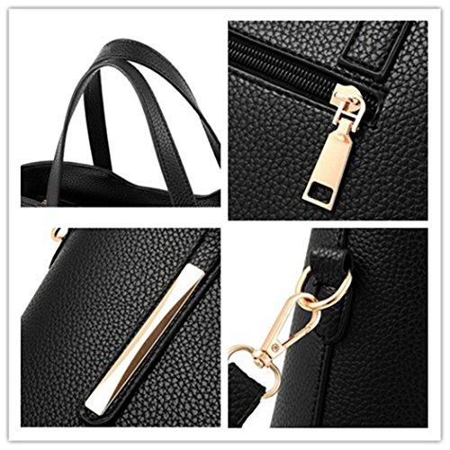 Bag Leather Tote 1 Crossbody Handbag Black XMLiZhiGu Women's Bag PU Shoulder Top Handle ZUwfAqCX