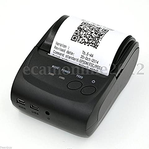Wireless Bluetooth Pocket Mini Thermal Receipt Printer for Android Mobile 58mm (Zj Sm)