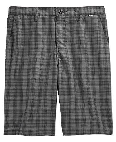 Hurley Men's Dri-fit Aliso Plaid Shorts (Black, (Hurley Plaid Shorts)