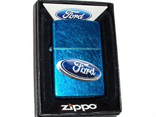 (Zippo Ford Dealers Sign Cerulean Finish Lighter)