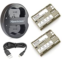 Newmowa BP-511 Battery(2-pack) and Dual USB Charger for Canon EOS 5D, 50D, 40D, 20D, 30D, 10D, Digital Rebel, D60, 300D, D30