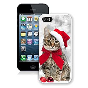 Provide Personalized Customized Christmas Hat Bowknot Cat Case For Iphone 6 4.7Inch Cover Case,Phone Case For Iphone 6 4.7Inch Cover,Case For Iphone 6 4.7Inch Cover White PC Cover