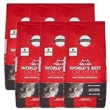 World's Best Cat Litter 28 lbs Odor Control Multiple Cat Clumping Formula, 6 Pack