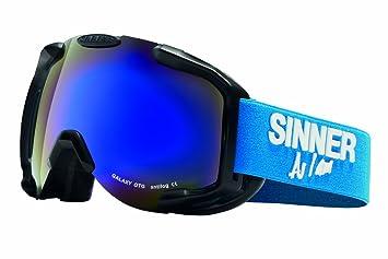 02d793f0d9 Sinner Galaxy OTG - Gafas de ventisca de pantalla doble (multicapa) negro  negro mate