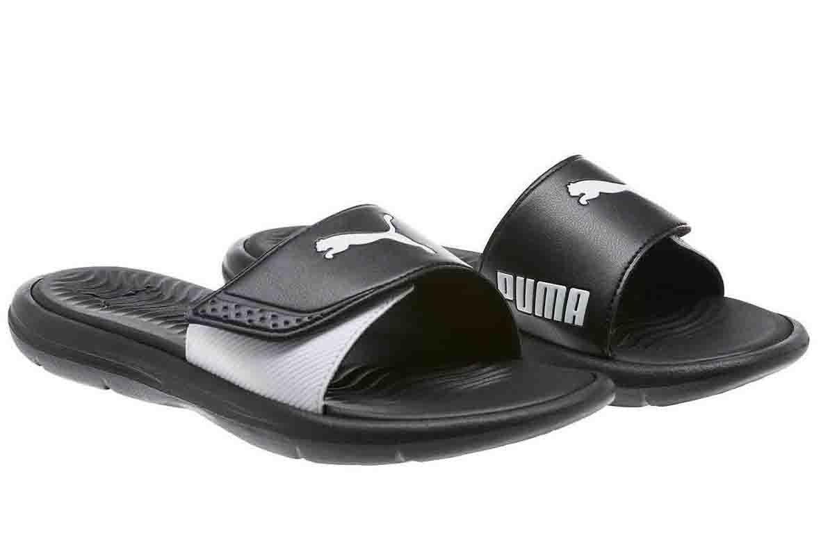 PUMA Ladies Slide Sandal (9, Black)
