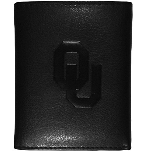NCAA Oklahoma Sooners Embossed Tri-Fold Wallet, Black ()