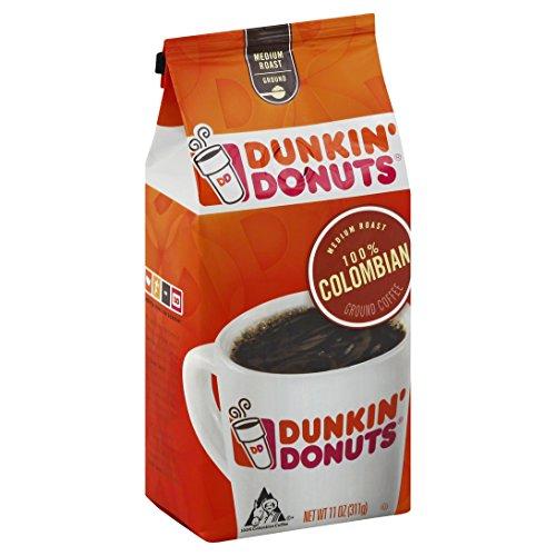 Dunkin' Donuts 100% Colombian Ground Coffee, Medium Roast, 11 Ounces