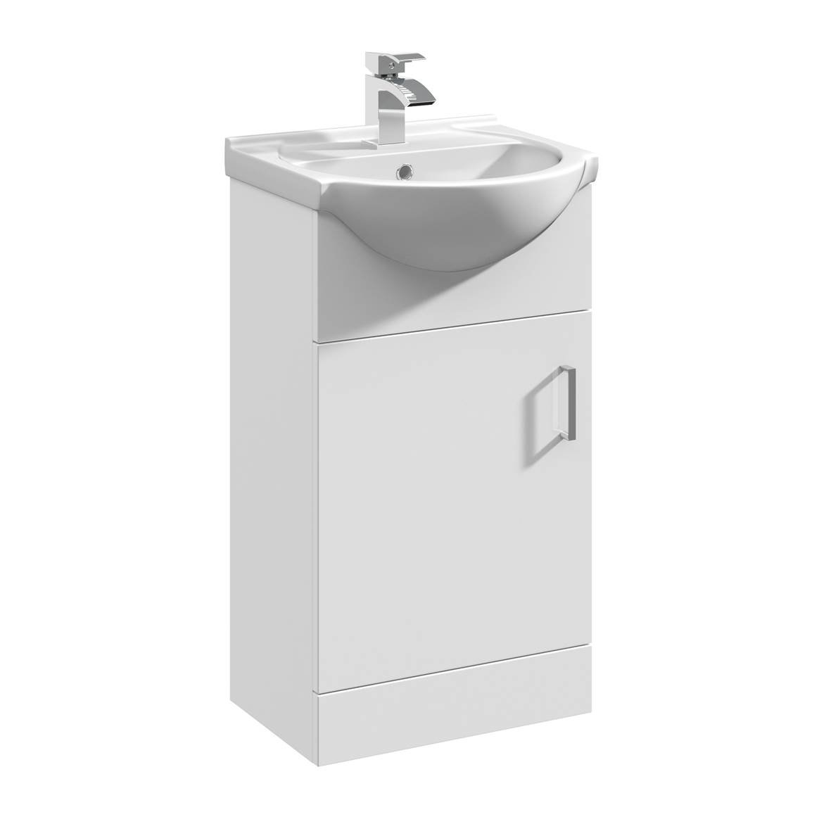 950mm Modular High Gloss White Bathroom Combination Vanity Basin ...