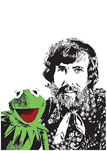 Amazon com: Jim Henson and Kermit the Frog Art Print - Creator of
