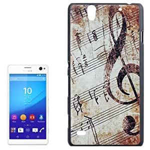 Retro Musical Note Pattern Protetive Case for Sony Xperia C4