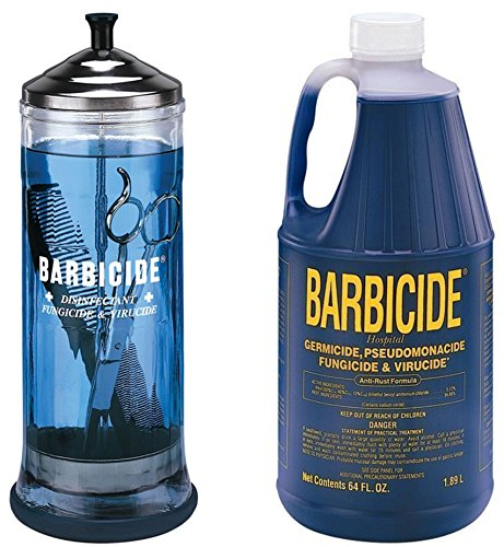 Barbicide Disinfectant Jar, Solution 1.89L For Salon Spas Medical Athletic Tools CODE: BRE 7 (Barbicide Disinfectant Jar compare prices)