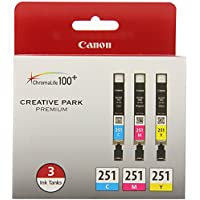 Canon CLI-251 CYAN,MAGENTA,YELLOW Ink, Compatible to...