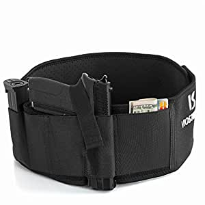 Belly Band Holster For Concealed Carry – Unisex Neoprene Breathable Appendix Gun Holster – Weapons Holder For Men & Women – Qualitative Fastener & Strong Fixation – Secure Fit & Easy Draw