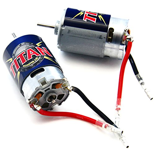 - Traxxas 1/10 E-Maxx TWO 21t TITAN 550 MOTORS & BULLET CONNECTORS 14 Volts