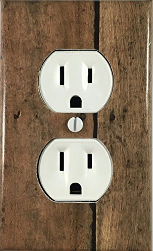 (Old Rustic Wood Fence Design Decorative Outlet Wall Plate)