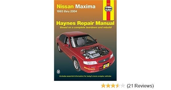 Nissan maxima 1993 thru 2004 haynes repair manuals bob henderson nissan maxima 1993 thru 2004 haynes repair manuals bob henderson john h haynes 9781563925948 amazon books fandeluxe Choice Image