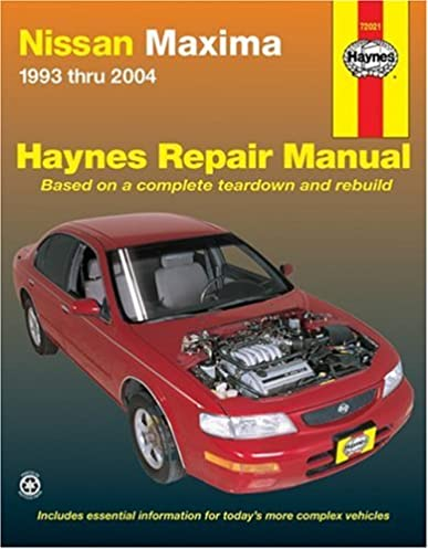 nissan maxima 1993 thru 2004 haynes repair manuals bob henderson rh amazon com 2000 nissan maxima owners manual free nissan maxima 2000 owner's manual manual