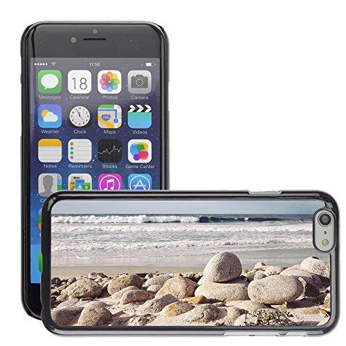 """Stampato Modelli Hard plastica Custodie indietro Case Cover pelle protettiva Per // M00421714 Shore Rocks Pebbles pierres rondes // Apple iPhone 6 4.7"""""""